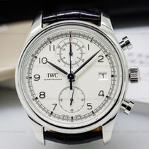 IWC IW390403 Portuguese Chronograph Classic SS / Silver Dial...
