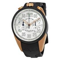 Bomberg 1968 Silver Dial Men's Rubber Chronograph Watch