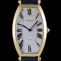 Cartier 18k Yellow Gold Tonneau Cintrée Mid-Size B&P