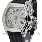 Cartier Roadster Chrono - Steel on Strap with Silver Dial