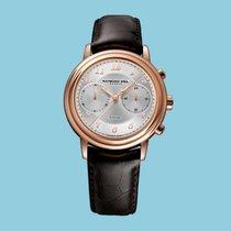 Raymond Weil Maestro Chronograph,  Roségold-PVD Lederband -NEU-