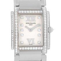Patek Philippe Twenty-4 18k White Gold Diamond Ladies Watch...