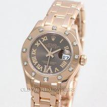 Rolex Masterpiece 80315 18K Rose Chocolate Diamond Dial