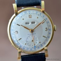Juvenia 18K SOLID YELLOW GOLD DAY DATE MONTH STUNNING FLARED...