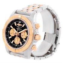 Breitling Chronomat Evolution Steel Rose Gold Black Dial Watch...