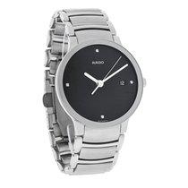 Rado Centrix Diamond Mens Black Date Dial Swiss Quartz Watch...