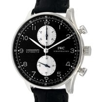 IWC Portoghese Chrono 3714 Steel, Leather, 40.9mm