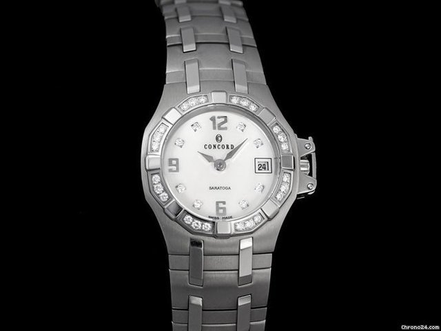 Concord SARATOGA DATE WATCH NEW - SS STEEL &amp;amp; DIAMONDS, 031