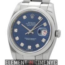 Rolex Datejust Steel 36mm Domed Bezel Blue Diamond Dial  2007...
