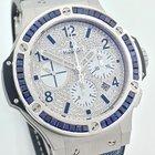 Hublot Big Bang JEANS BLUE BAGUETTE PAVE DIAL DIAMOND LC100