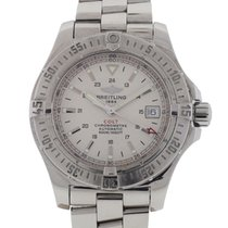 Breitling Colt Automatic Stainless Steel White Dial Watch A17380
