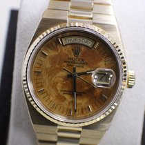 Rolex President Day Date Quartz 18K Yellow Gold Walnut Dial