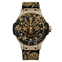 Hublot [NEW] Big Bang Broderie Yellow Gold Diamond Limited 200...
