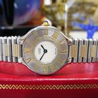 Cartier Must De Cartier 21 Steel And Gold Round Dress Watch