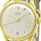 Vulcain Cricket Gold Plated Leather Hand-winding Mens Watch...