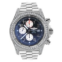 Breitling A13370 Super Avenger Chronograph in Stainless Steel...