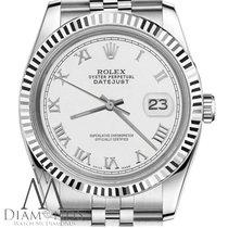 Rolex Classic Rolex 36mm Datejust White Color Roman Numeral...