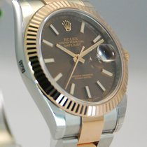 Rolex DateJust Two Tone 18kt Everose Gold/SS Chocolate...