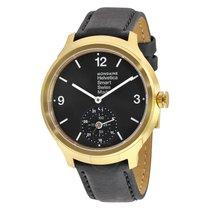 Mondaine Helvetica No 1 Bold Smart Black Dial Black Leather...