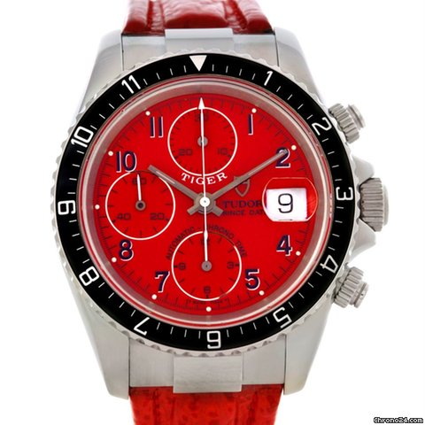 Tudor Tiger Woods Chronograph Steel Watch 79270
