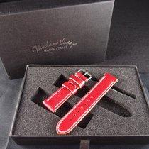 劳力士  (Rolex) Vintage Handmade Italian Leather Strap - Love Red