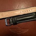 Breitling bracelet veau noir