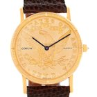 Corum 18k Yellow Gold 10 Dollars Coin Diamond Ladies Watch
