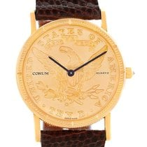 Corum 18k Yellow Gold 10 Dollars Coin Diamond Ladies Watch