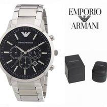 Armani Men's Quartz Watch with Black Dial