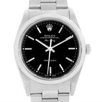 Rolex Oyster Perpetual Air King Black Dial Steel Mens Watch 14000