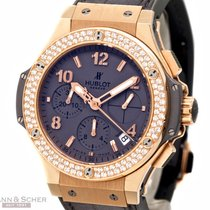 Hublot Big Bang Earl Gray Diamond Chronograph 18k Rose Gold...