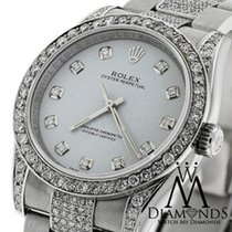 Rolex Watch Oyster Perpetual 116000 No-date 36mm Grey Dial...