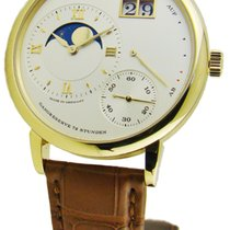 A. Lange & Söhne A  Grand Lange 1 Moon Phase Brown Leather...