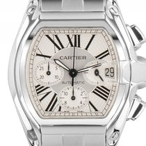 Cartier Roadster Chronograph GM großes Modell Stahl Automatik...