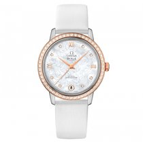 Omega De Ville Prestige  Stainless Steel -  Red Gold Ladies...