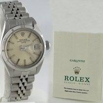Rolex Ladies Rolex Date Stainless Steel Silver Dial Watch...