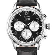 Cerruti CRA107SN02BK Bellagio Chronograph 44mm 5ATM