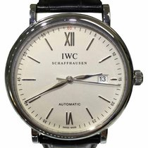 IWC Portofino 3565 Silver Dial Black Leather Dress Watch