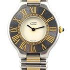 Cartier Must 21 or/acier