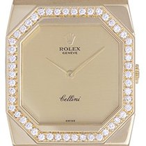 Rolex Cellini Men's/Ladies Midsize 18k Gold Watch with...