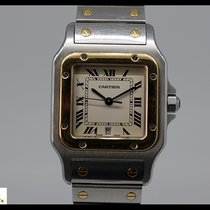 Cartier Santos Galbee steel/gold quartz watch