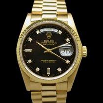 Rolex Day-Date 18038 Black Stella Diamond Dial