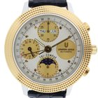 Universal Genève Stainless Steel & Gold Tri-Compax...