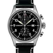 Junkers Cockpit Ju52 Quartz Watch 12 Hr Totalizer Chrono 42mm...