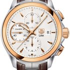 TAG Heuer Link 18kt Rose Gold Steel Brown Leather CAT2050.FC6322