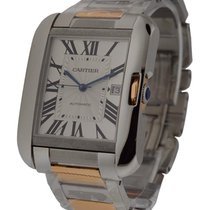 Cartier Tank Anglaise Large Size in Steel and Rose Gold
