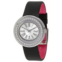 Piaget NEW] Possession Silver Dial Black Satin Ladies Watch