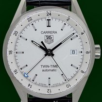 TAG Heuer Carrera Twin  Time Automatic GMT Open Back Box&P...