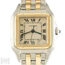 Cartier Uhr Panthere Edelstahl/750 Gold 2 Streifen Medium Ref....