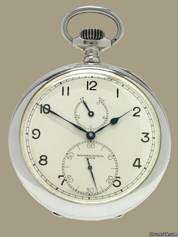 Vacheron Constantin in Chronometer im Silber- gehuse. ca. 1945